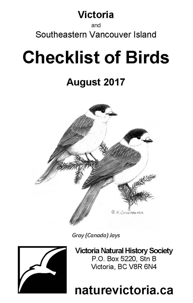 Checklist Of Birds Victoria Southeastern Vancouver Island